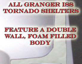 Granger ISS Foam Filled Tornado Shelter body