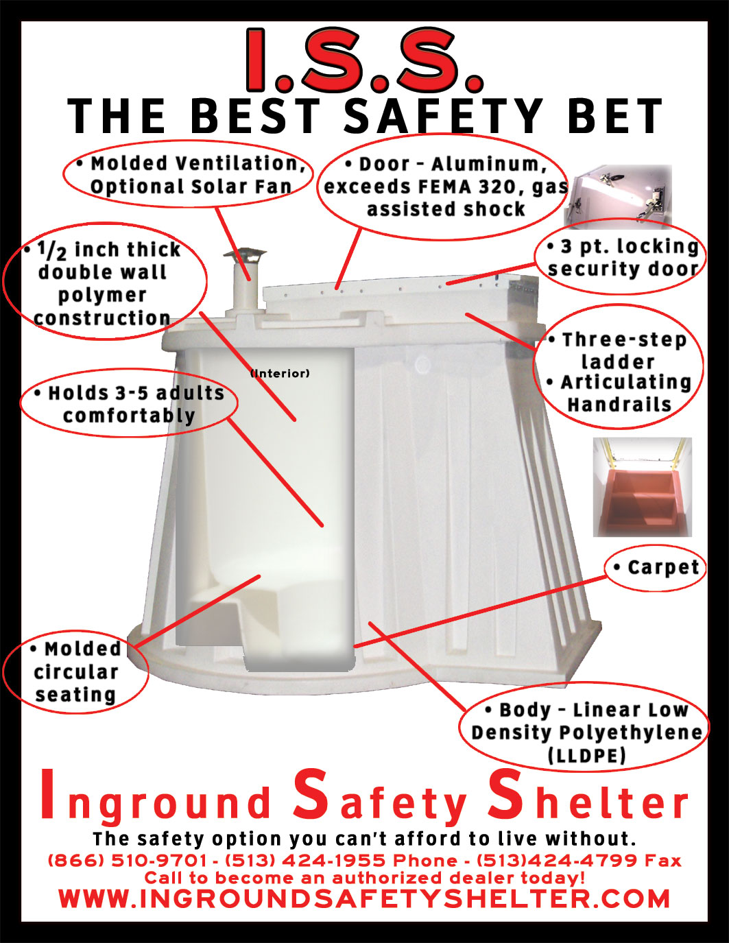 Inground Safety Shelter Tornado From Tornadoes Storm Plastic